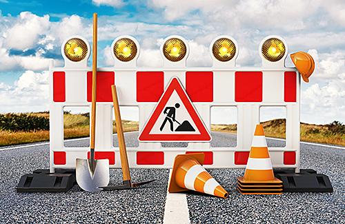 Baustellenabsicherung nach MVAS 99 - mit Bundesautobahn
